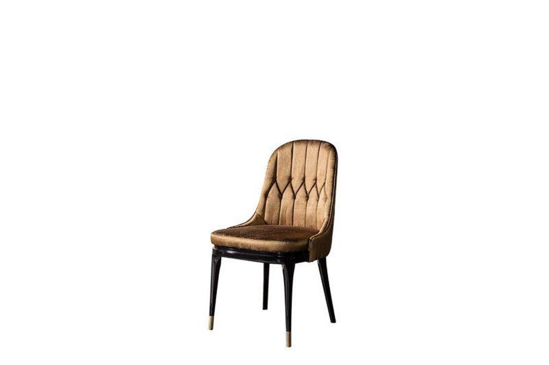 Lüks Başak sandalye modelimiz rengi ve tasarımı ile sofralarınızın vazgeçilmez ürünü olmaya Lucca Luxury ile geliyor