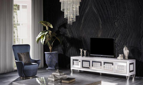 Lüks Richmond tv ünitesi modelimiz beyaz metal kapak kenar detayları ile tv keyfinizi üst düzeye çıkarmaya Lucca ile geliyor.