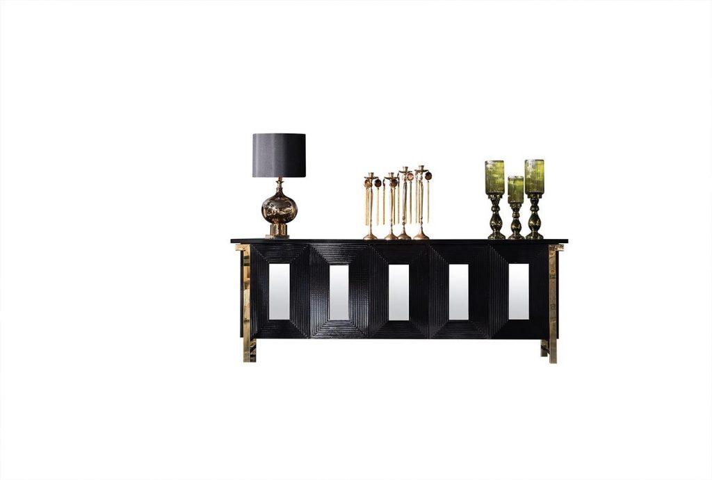 Lüks Rixos Siyah Konsol modelimiz tasarım şıklığı ve şık detaylarıyla size evinizde lüksü yaşatmaya Lucca Luxury ile geliyor.