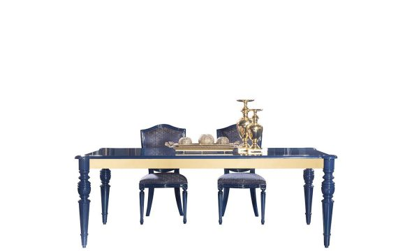 Lüks Escade lacivert yemek masası modelimiz Lucca'da sizlerle