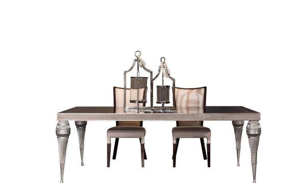 Lüks Escape Yemek masası 6 kişilik olup, şık tasarımı ve detaylarıyla ourma odalarınızda farkınızı yansıtmak istiyorsanız Lucca Luxury tam size göre