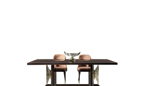 Lüks Milano yemek masası modelimiz gold metal işleme detayları ile ahşabın buluşmasıyla sofranızın vazgeçilmezi olmaya Lucca ile geliyor.