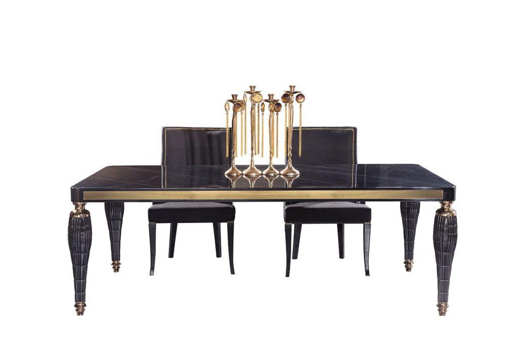 Lüks Serenity siyah yemek masası modelimiz lucca'da sizi bekliyor.