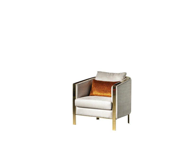 Rugiano Modern Berjer modelimiz tasarım şıklığıyla, gold metal detaylarıyla evinize şıklık katmaya Lucca Luxury ile geliyor.