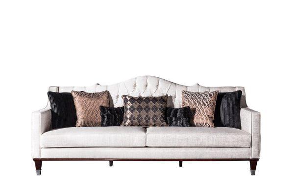 Chanel üçlü koltuk beyaz modelimiz kapitone tarzı ve kaliteli iskelet yapısıyla sizleri, koltuk+kanepe modellerimiz Lucca'da bekliyoruz