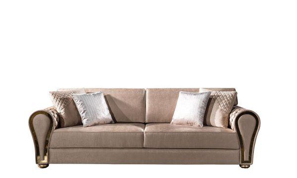 Lüks Delux üçlü koltuk modelimiz klasik duruşu ve tasarım şıklığıyla evinizin yıldızı olmaya Lucca Luxury ile geliyor.