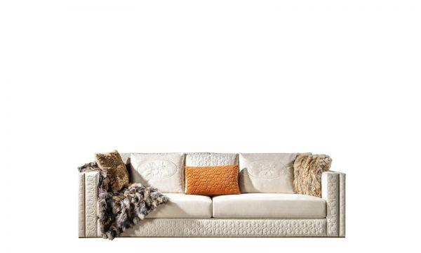 Modern Roma Üçlü koltuk beyaz modelimiz kaliteli iskelet yapısı ve tasarımıyla evinizin yıldızı olmaya Lucca ile geliyor.