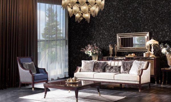 Renk uyumuna hayran kalacağınız bir tasarım Tomford klasik koltuk takımı lucca'da